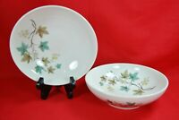 Syracuse China WOODBINE Serving Bowls Set of 2 Turquoise Leaves 8""