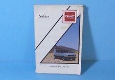 90 1990 GMC Safari owners manual