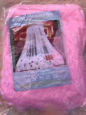 PINK ROUND GIRLS PRINCESS SINGLE BED CANOPY NET NEW