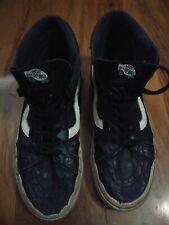 Vans High Tops Shoes Size 7 Black Leather Punk Skate