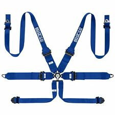 Sparco Pro Endurance 6 Point FHR Saloon Car Race Racing Harness In Blue