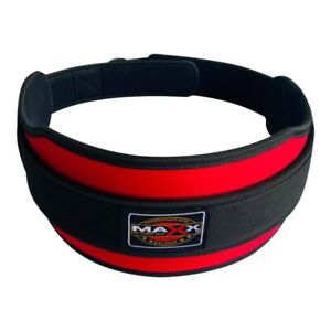 Weight Lifting Belt Gym Training Neoprene Fitness Workout Double Support RED