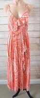 Sunny Girl Dress Sz (12) Small 8 10 Red White Midi Slip Dress