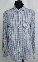 Peak Performance Plaids Long Sleeve Women's Casual Cotton Top Shirt Size:XL