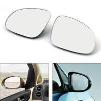 2xRearview Mirror Glass Heated W/Holder For VW Golf GTI Jetta MK5 Passat B6 AU5
