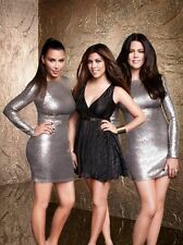 New KARDASHIAN KOLLECTION Dorothy Perkins sz M Gold Sequin L/S Cocktail Dress