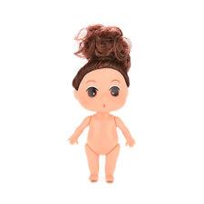 2X Small 9cm Doll for ddung Girl Dolls Charms PR Dollhouse Girl Toy With  Bun PR