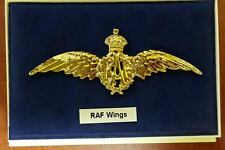 Insigne Brevet Pilote de la ROYAL AIR FORCE à Or Fin 22K RAF