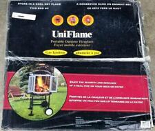 """Uniflame 22"""" Portable Outdoor 360 Visibility Fireplace w/Gas Ignite (New)"""