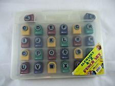 Armada Complete Alphabet A-Z Paper Punch Set with Carrying Case EUC