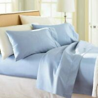 TWIN XL BLUE SOLID SHEET SET 1000 THREAD COUNT 100% EGYPTIAN COTTON
