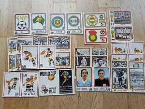 Panini WM WK WC 1974 München Munich 74, double stickers sheet/Doppelsticker,RARE