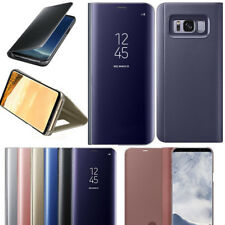 Samsung Galaxy S7 Edge S8 S9 S10 Plus Spiegel Clear View Schutz Hülle Case Cover