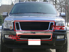 Fits 07-10 Ford Explorer Sport Trac Billet Grille Combo
