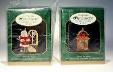 Pair Hallmark Keepsake Ornament Collector Club 1997 Christmas Mini Ornament Mib