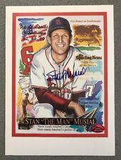 Stan Musial signed 6x8 Cardinals autographed HOF Baseball Art Print (STM COA)