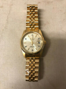 Croton AUTOMATIC 5ATM 165FT Stainless Steel Gold in Color Men's Watch