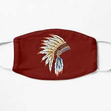 Native American Indian Headdress For Indigenous Peoples Day Face Mask