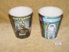 LEGO GEAR: MCDONALDS Bicchiere/Tazza LEGO MOVIE cuptlm 01 BATMAN & cuptlm 06 Marco Vitruvio Pollione x2