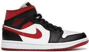 Air Jordan 1 Mid Metallic Red Gym Red Black White Toe Bred Chicago 554724-122