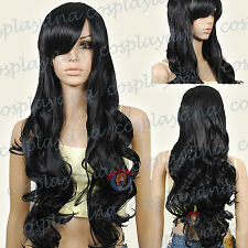 33 inch Hi_Temp Series Black Curly wavy Long Cosplay DNA Wigs 967001
