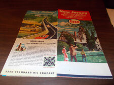 1959 Esso New Jersey Vintage Road Map / Batsto Mansion on Cover