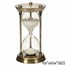 Nautical Sand Timer Brass Quarter Hourglass Antique Vintage Decor Marine Gift