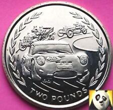 1996 rara de la isla de Man £ 2 dos libras automóviles de carrera Mono UNC Moneda AA Die marca IOM