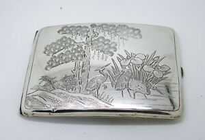 Fine antique Japanese / Chinese silver cigarette case