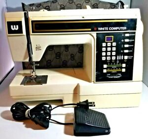 White Sewing Machine Model 8500 White Computer With Case The White Sewing Machin