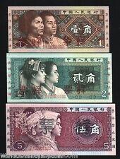 CHINA 1 2 5 JIAO P881-P883 1980 *SPECIMEN* KOREA MIAO UNC NOTE RARE CURRENCY SET
