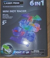 Mini Indy Racer Laser Pegs 6 models in 1 Lighted Construction Toy Brick Light Up