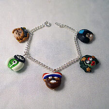 mighty boosh handmade charm bracelet (characters) emo