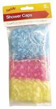 5 X Descartables De Polietileno Impermeable Cabello Baño De Viaje ducha Tapas elástica