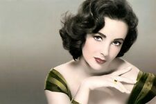 "ELIZABETH TAYLOR HOLLYWOOD ACTRESS LOT OF TEN 4X6"" HAND COLOR TINTED PHOTOGRAPHS"