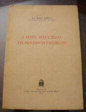 (PRL) ANTIQUE BOOK RARO 1951 LIBRO ANTICO VINTAGE LAW DIRITTI MASSA PROCESSO