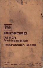 Bedford CAS & CAL Petrol Engined Models original Handbook 1966 No. TS 790/1