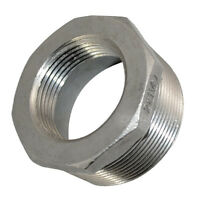 """2"""" Male x 1 1/4"""" female Stainless Steel threaded Reducer Bushing Pipe Fitting"""