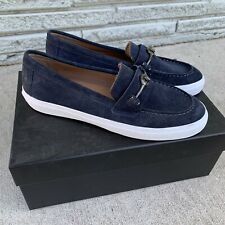 Coach Corey Navy Suede Slip On Shoes Size 8.5