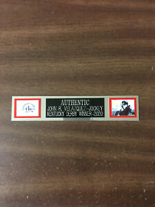 AUTHENTIC (KENTUCKY DERBY) NAMEPLATE FOR PHOTO/MEMORABILIA DISPLAY