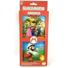 Super Mario Bros 3D Drink Coasters Luigi Princess Yoshi Bowser Mushroom NEW
