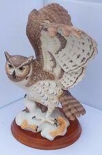 NEW The Great Horned Owl Porcelain Sculpture George McMonigle for Franklin Mint