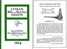 Lyman 1916 Sights Catalog