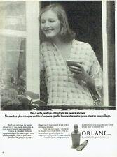Publicité Advertising   1974  Orlane   cosmétiques bio-lacta