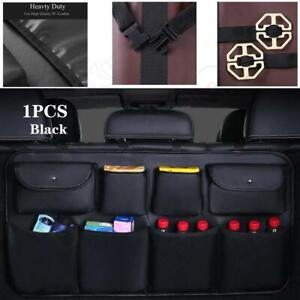 PU leather Car Rear Seat Back Storage Bag Trunk Organizer Interior Accessories