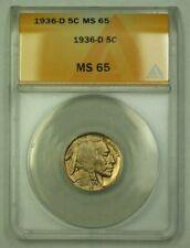 1936-D Buffalo Nickel 5c ANACS MS-65 (M) (WW)