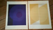 EDITION DOMBERGER STUTTGART 2 SERIGRAPHIES LITHOGRAPHIES