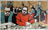 Big Lebowski Pulp Fiction Oil Painting Hand-Painted Art Canvas NOT a Print 24x40