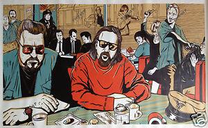 "Big Lebowski Pulp Fiction Oil Painting Hand-Painted Art Canvas NOT Print 24""x40"""