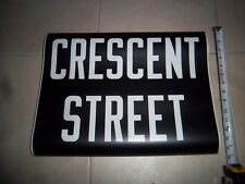 R27 BMT FRONT DESTINATION NYC SUBWAY SIGN NY ROLL SIGN CRESCENT STREET BROOKLYN
